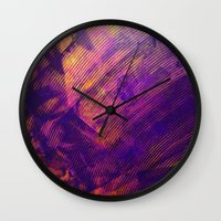 Purple And Orange Stripe… Wall Clock