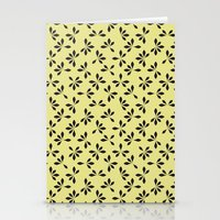loves me loves me not pattern - banana yellow Stationery Cards