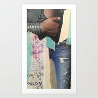 Ripped Jeans Art Print