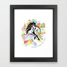 Comic Art: Wild Hearts Framed Art Print
