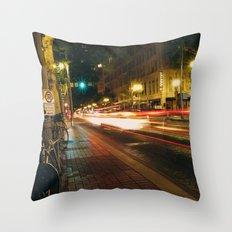 Portland Lights at Night Throw Pillow