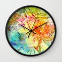 bright floral Wall Clock