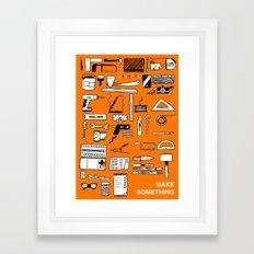 Make Something Framed Art Print