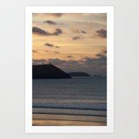 Evening Skies Over Polze… Art Print