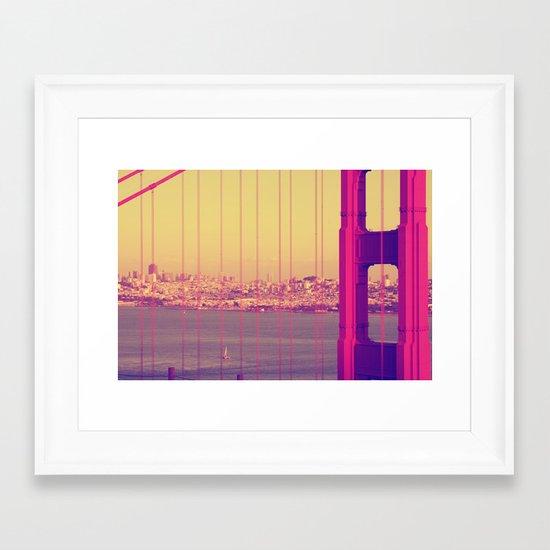 Golden Gate Into San Francisco Framed Art Print