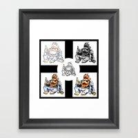 Drunk Biker Monkey Framed Art Print
