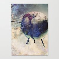 Rotten Apple Canvas Print
