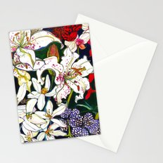Lilies & Orchids Stationery Cards