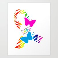 You can't have a Rainbow without the Rain - Awareness Ribbon Art Print