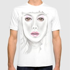 Porcelain Beauty Mens Fitted Tee SMALL White