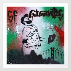 Mexican flag themed Sergio Romo SF Giants Gigantes Aerosol Stencil Art Painting Art Print