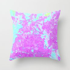 Fireweed Turquoise Throw Pillow