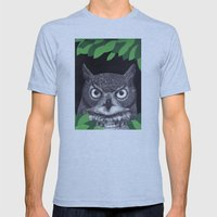 among the leaves (night) Mens Fitted Tee Athletic Blue SMALL
