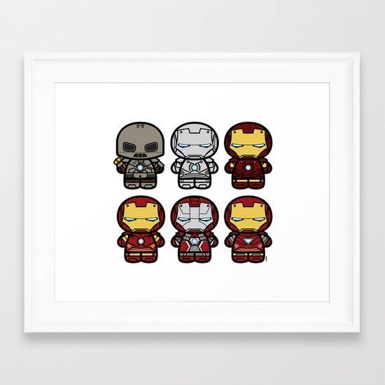 Chibi-Fi Iron Man Movie Armory Framed Art Print