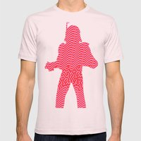 Cut StarWars - Pink Stre… Mens Fitted Tee Light Pink SMALL
