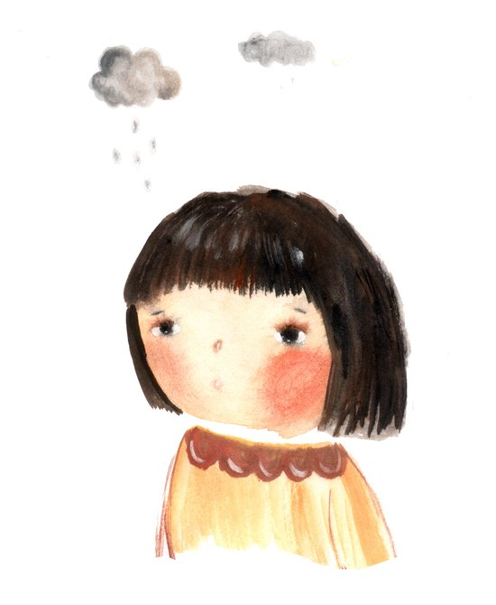 Rain on me Art Print