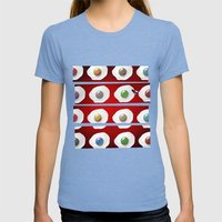 Disco Breakfast Womens Fitted Tee Tri-Blue SMALL