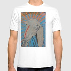 Goathead White Mens Fitted Tee SMALL