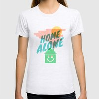 Home Alone Womens Fitted Tee Ash Grey SMALL
