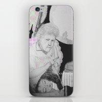 old woman iPhone & iPod Skin