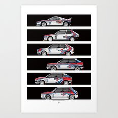 Lancia Martini Rally Cars Art Print