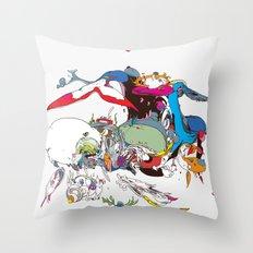 白長須 - shironagasu Throw Pillow