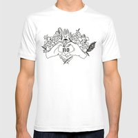 NO Mens Fitted Tee White SMALL
