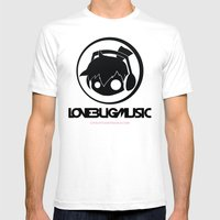 Love Bug Music Logo  Mens Fitted Tee White SMALL