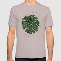 Monstera deliciosa Mens Fitted Tee Cinder SMALL