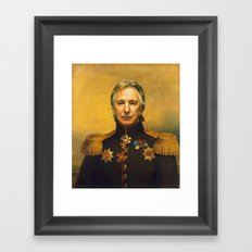 Alan Rickman - Replacefa… Framed Art Print