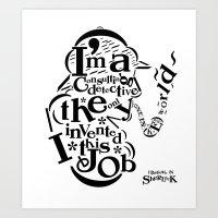 Sherlock Goes Typography (Holmes, Watson) Art Print