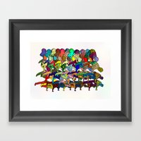 B-Boy in Motion Framed Art Print