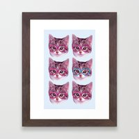 Heart Cat Framed Art Print