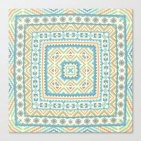 Square pattern  Canvas Print