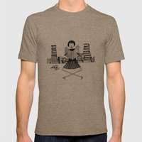 Bookworm Mens Fitted Tee Tri-Coffee SMALL