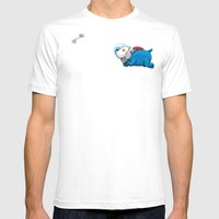 Spacedoggy Mens Fitted Tee White SMALL