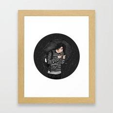 Fire in the Rain Framed Art Print