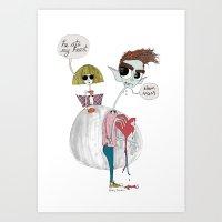 That boy is a monster Art Print