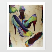 Rainbow Vogue Art Print