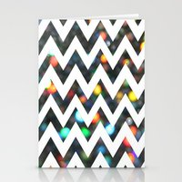 Chevron Sparkles Stationery Cards