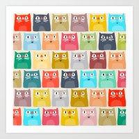 Summer Cats Art Print