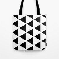 Sleyer Black on White Pattern Tote Bag