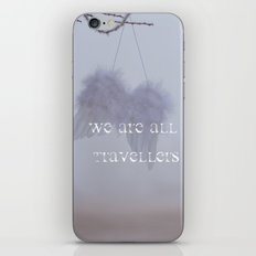 WE ARE ALL TRAVELLERS iPhone & iPod Skin