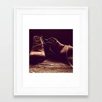 Boots I Framed Art Print