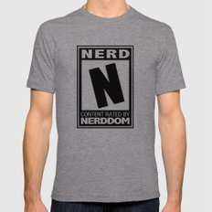 Rated N for Nerd Mens Fitted Tee Tri-Grey SMALL