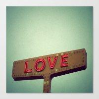 Love Signs Canvas Print