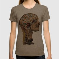 Human Brain  Womens Fitted Tee Tri-Coffee SMALL