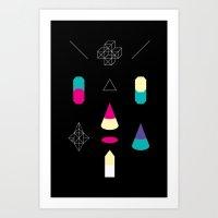Play on Black Art Print