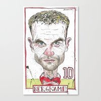 Canvas Print featuring BERGKAMP by BANDY