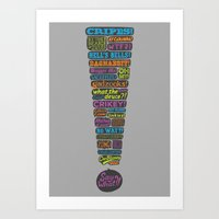 Exclamation! Art Print